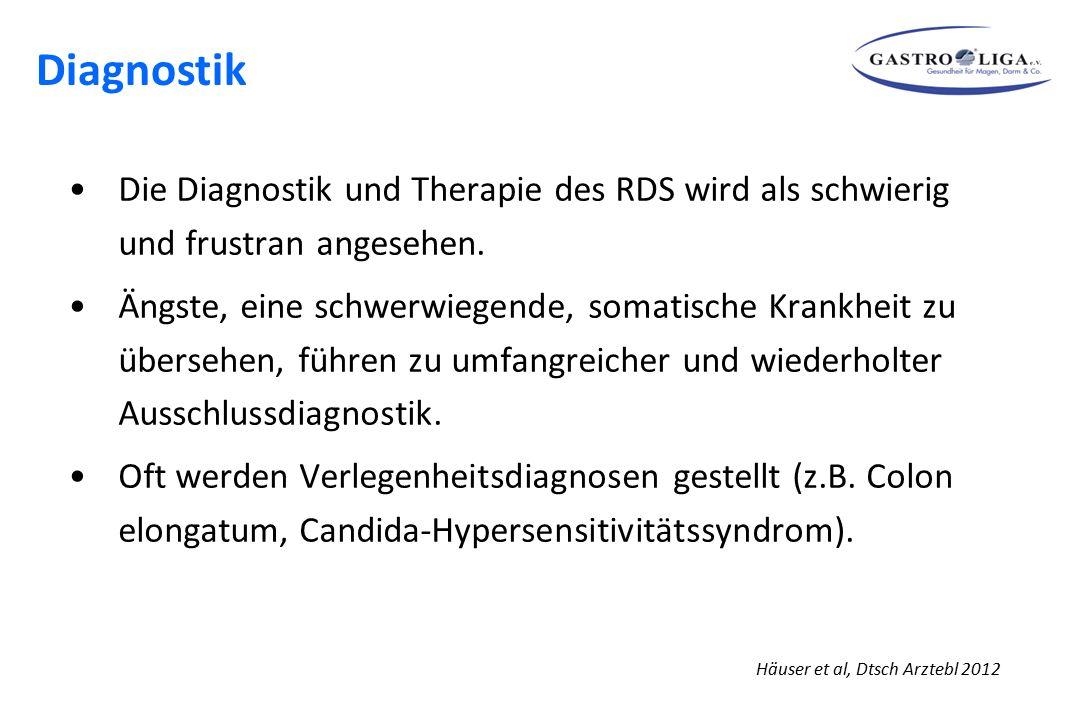 Diagnostik Die Diagnostik und Therapie des RDS wird als schwierig und frustran angesehen.