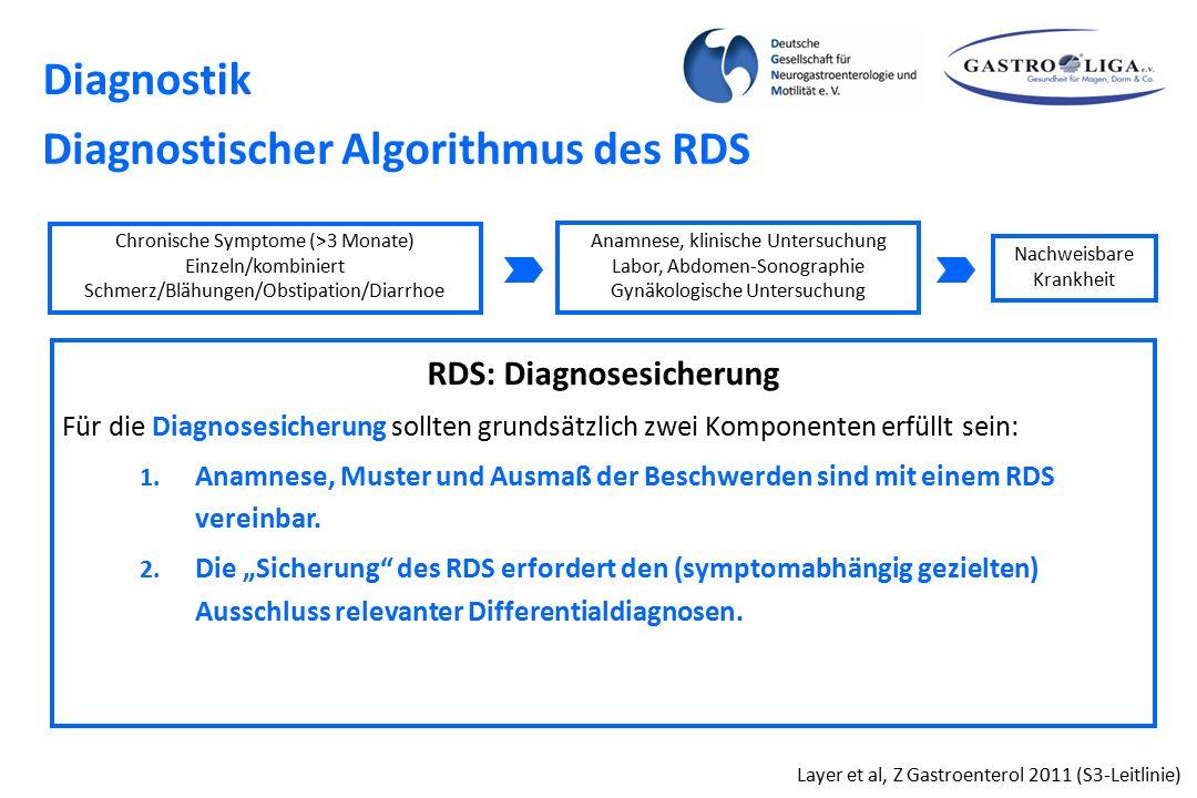 RDS: Diagnosesicherung