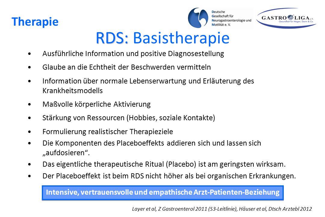 Intensive, vertrauensvolle und empathische Arzt-Patienten-Beziehung