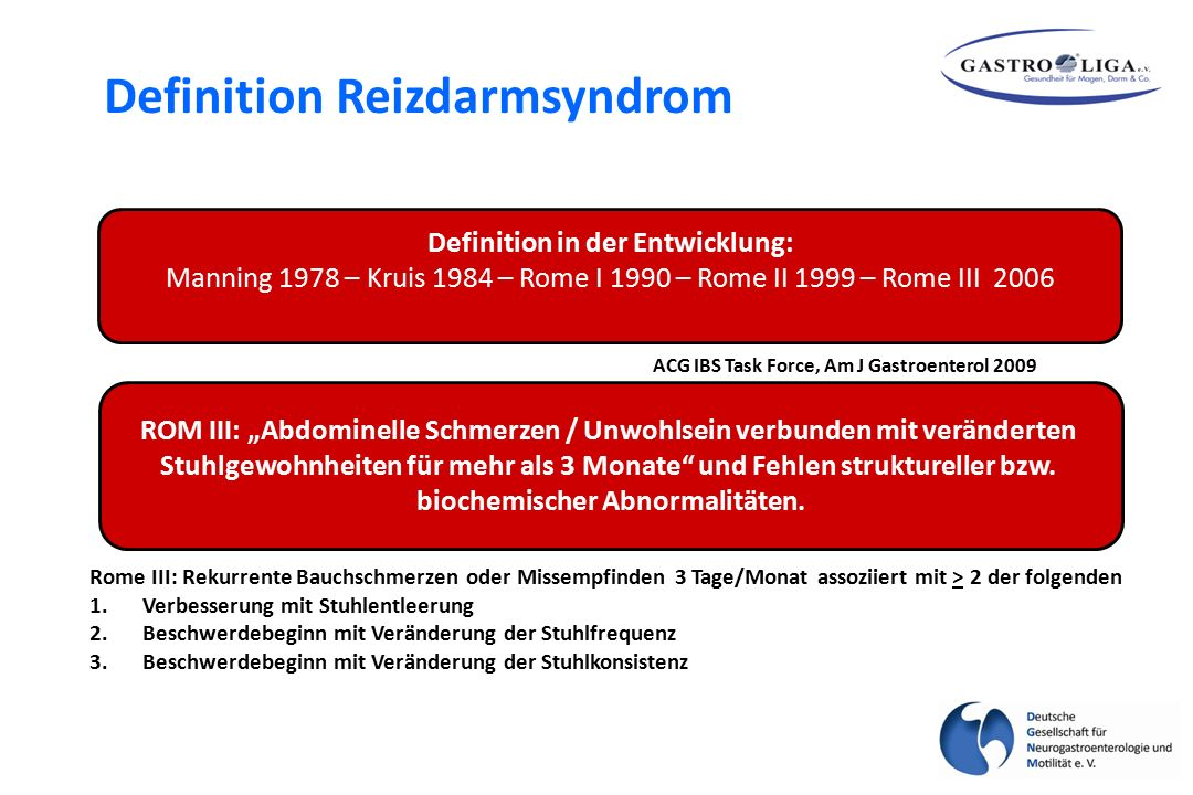 Definition Reizdarmsyndrom