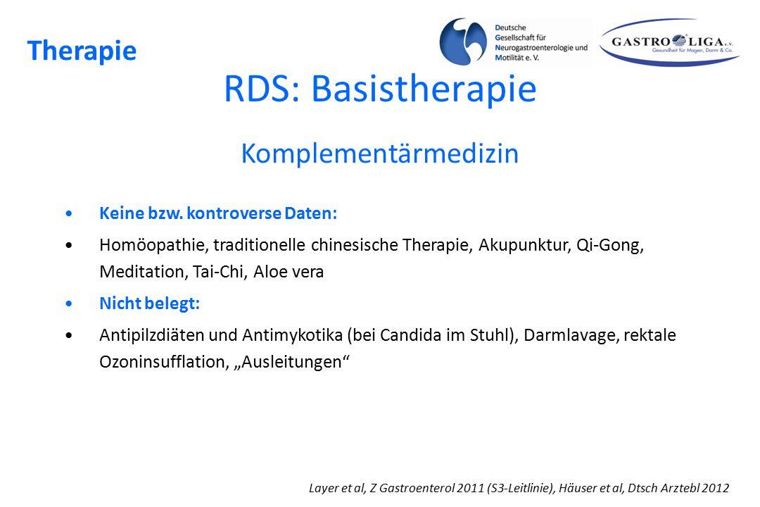RDS: Basistherapie Therapie Komplementärmedizin