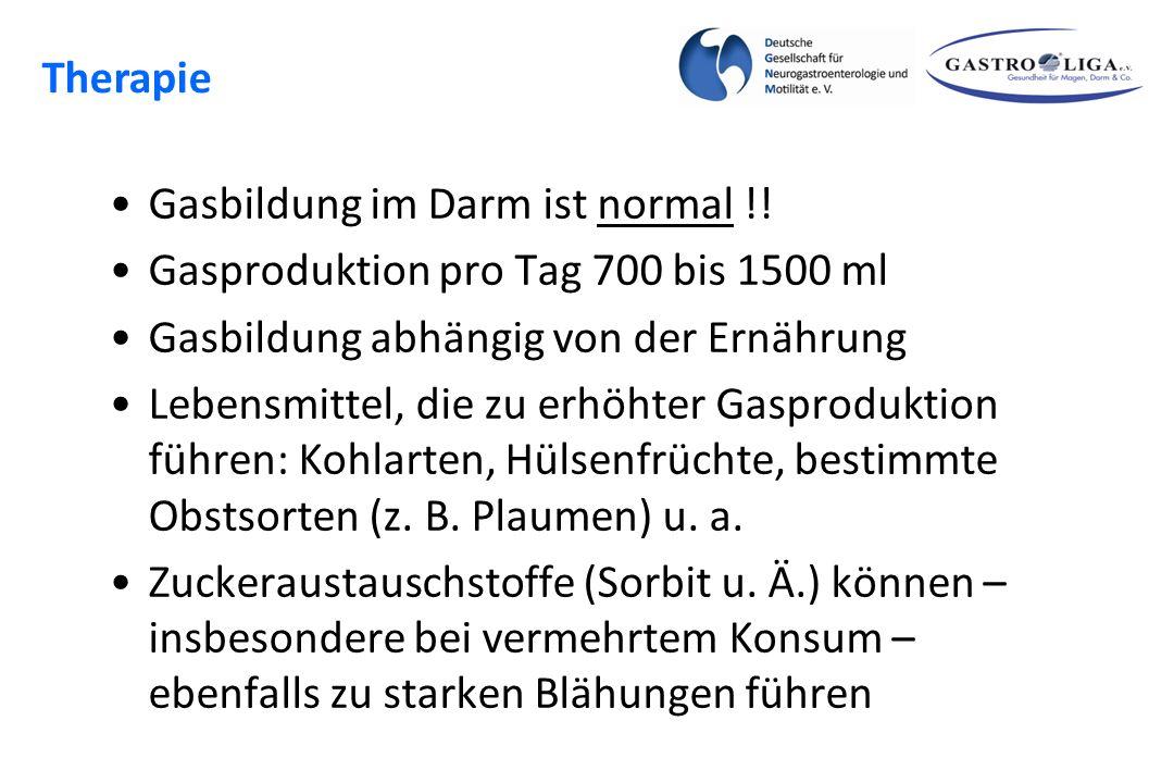 Blähungen Therapie Gasbildung im Darm ist normal !!