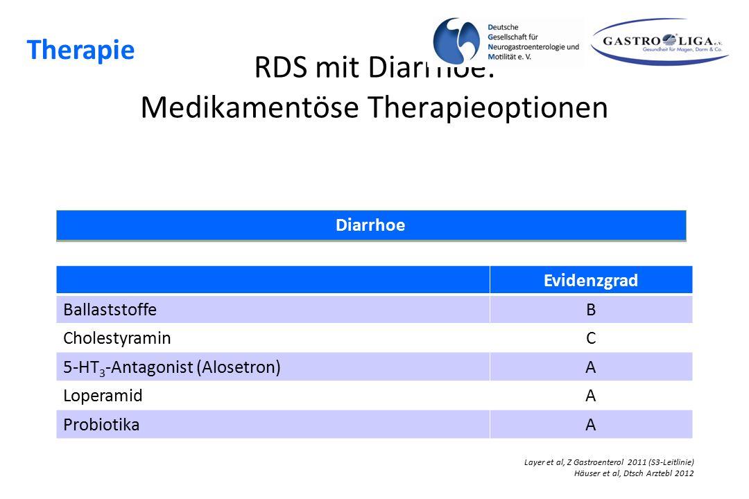 RDS mit Diarrhoe: Medikamentöse Therapieoptionen