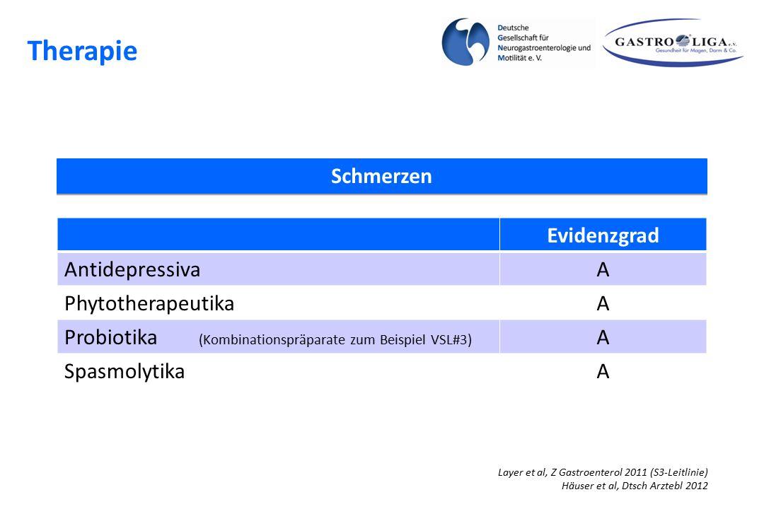 Therapie Schmerzen Evidenzgrad Antidepressiva A Phytotherapeutika