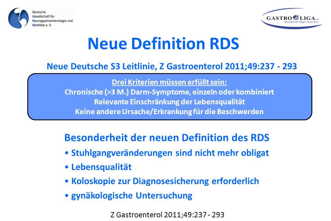Neue Definition RDS Besonderheit der neuen Definition des RDS