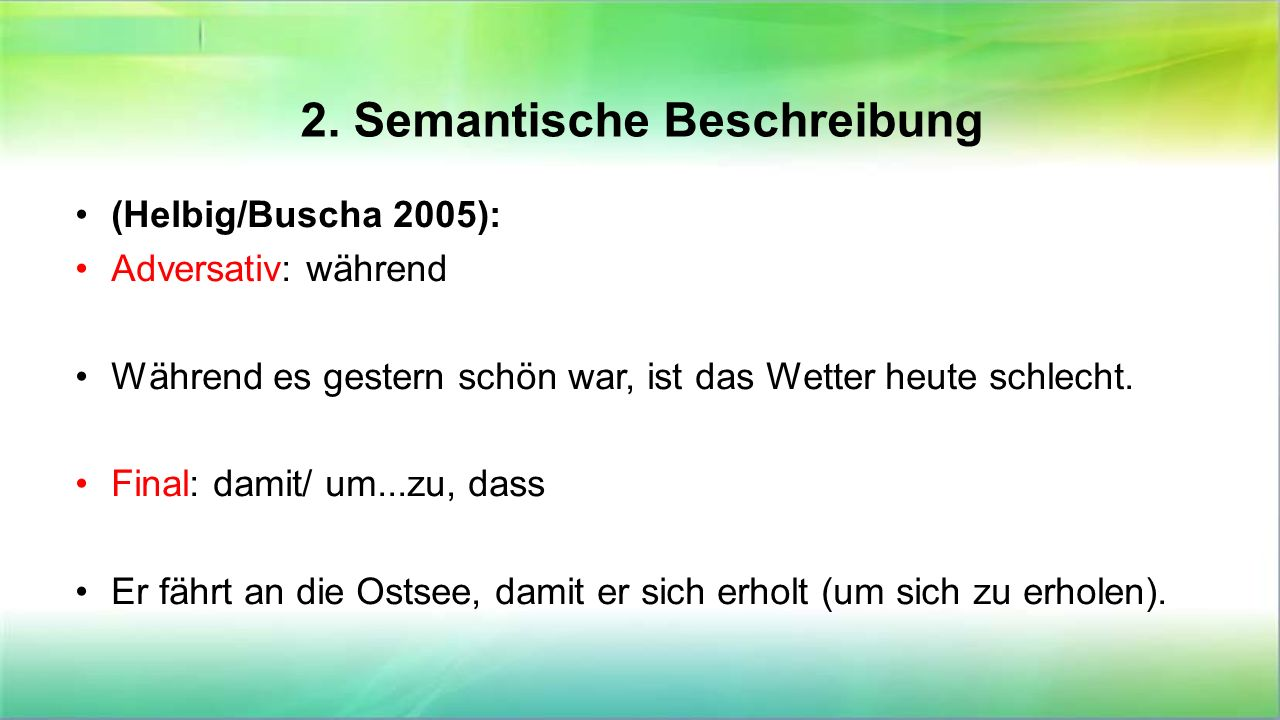 2. Semantische Beschreibung