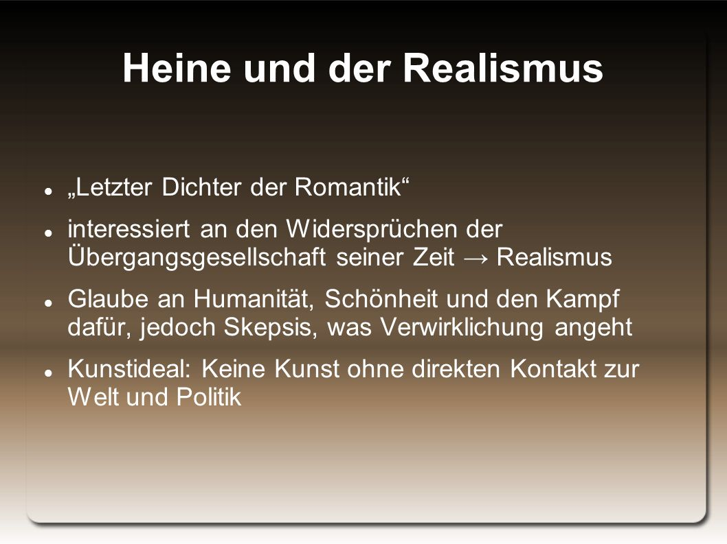 Heine und der Realismus