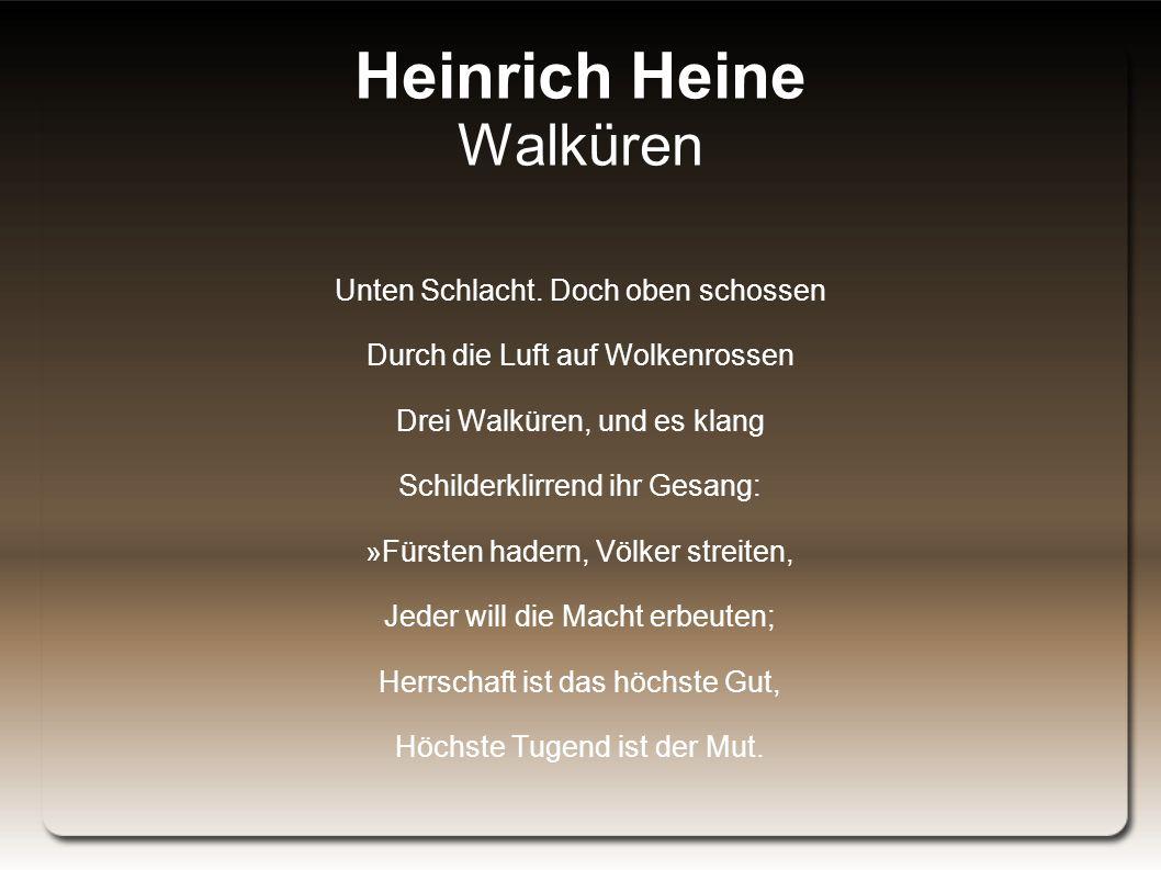 Heinrich Heine Walküren