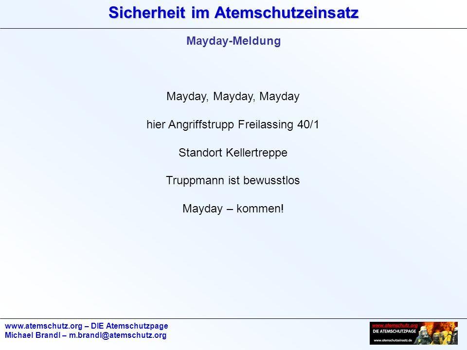 hier Angriffstrupp Freilassing 40/1 Standort Kellertreppe