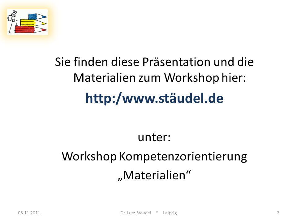 Sie finden diese Präsentation und die Materialien zum Workshop hier:
