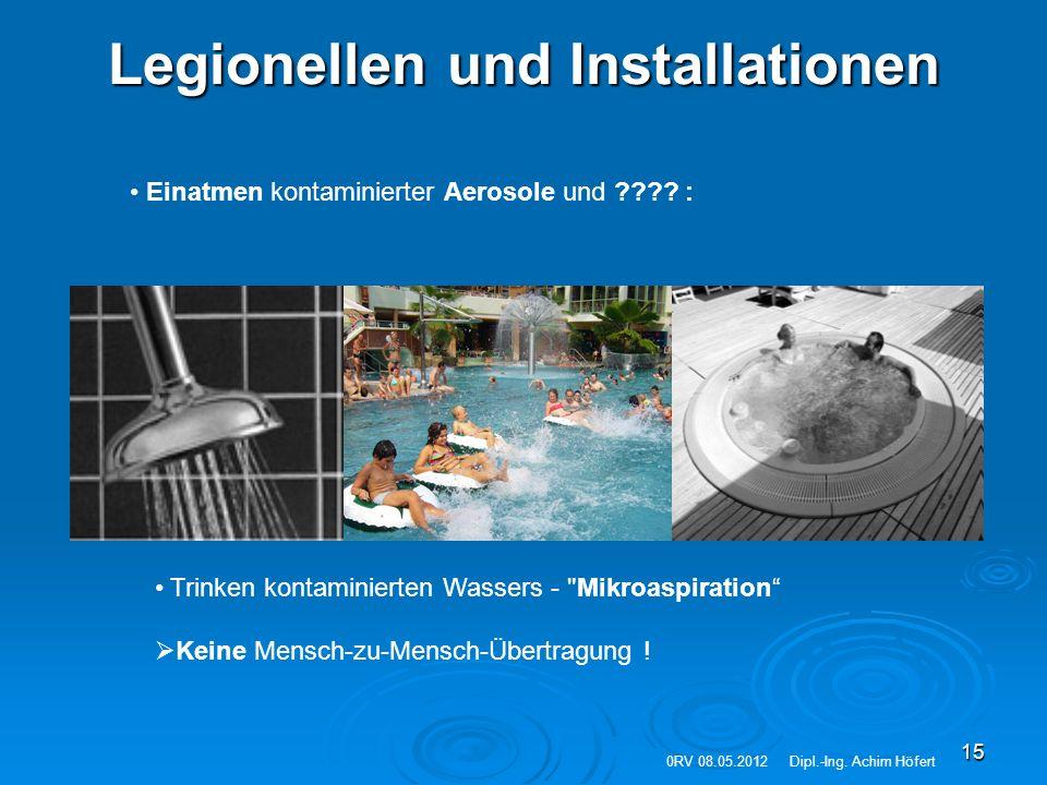 Legionellen und Installationen