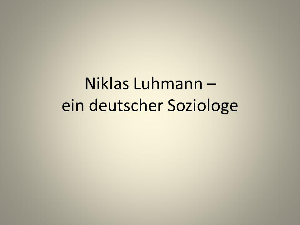Niklas Luhmann – ein deutscher Soziologe