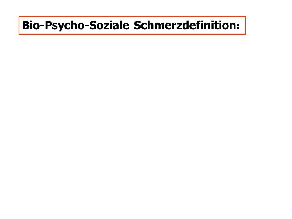 Bio-Psycho-Soziale Schmerzdefinition: