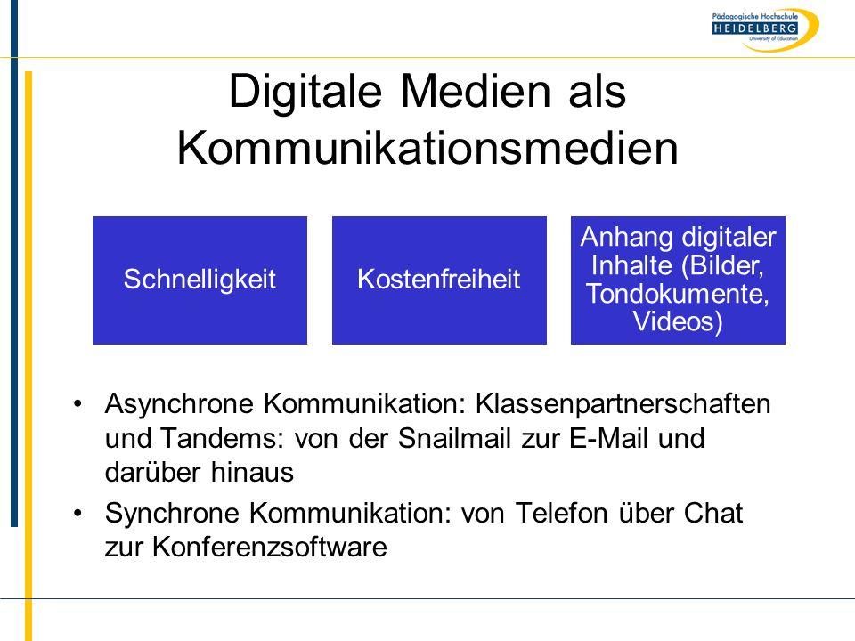 Digitale Medien als Kommunikationsmedien