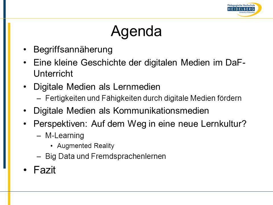 Agenda Fazit Begriffsannäherung