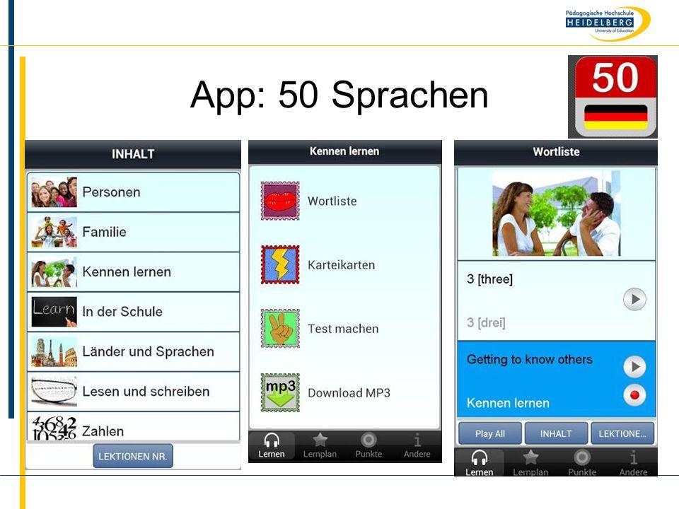 App: 50 Sprachen
