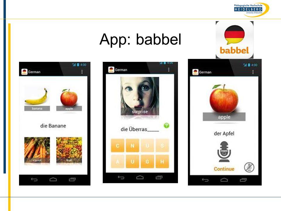 App: babbel