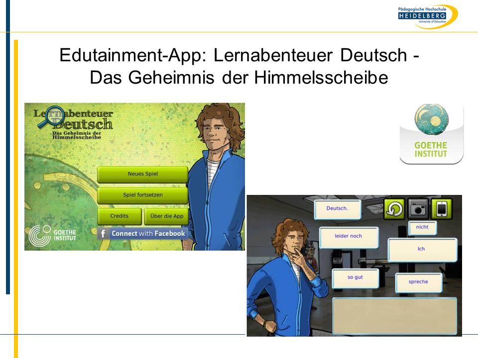 Edutainment-App: Lernabenteuer Deutsch - Das Geheimnis der Himmelsscheibe