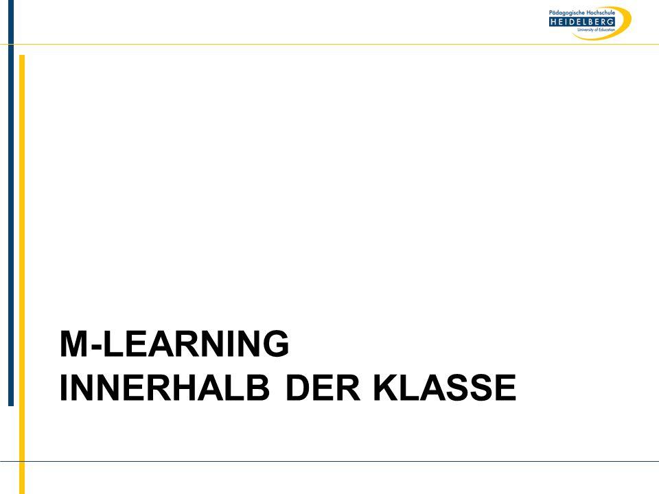 m-learning innerhalb der Klasse