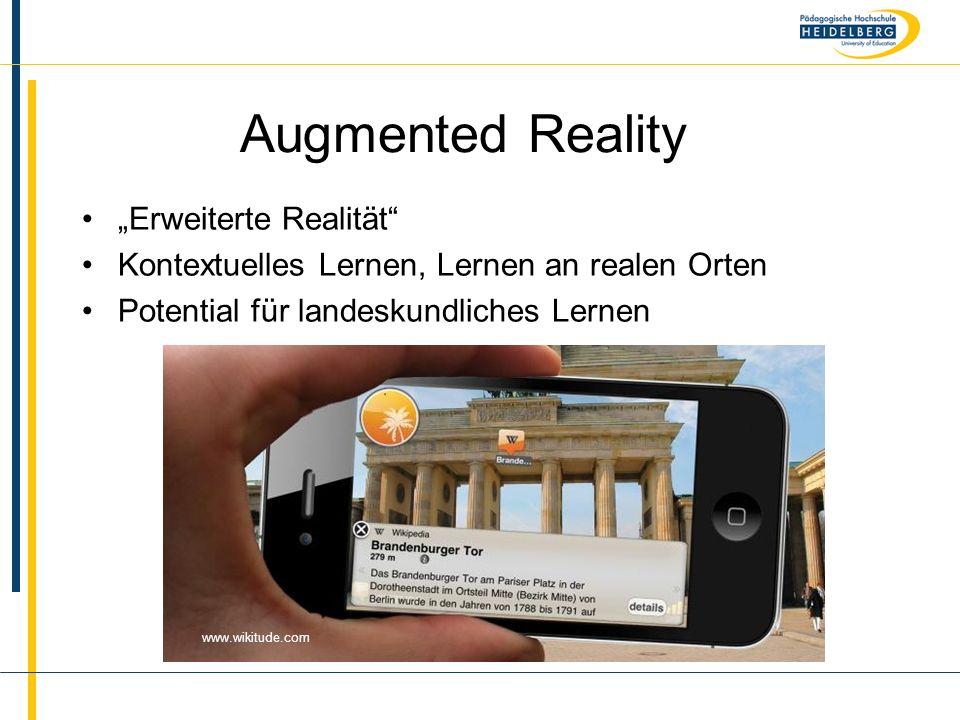 "Augmented Reality ""Erweiterte Realität"