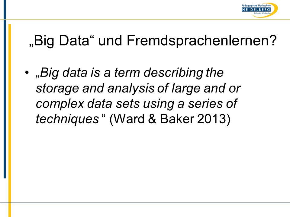 """""""Big Data und Fremdsprachenlernen"""