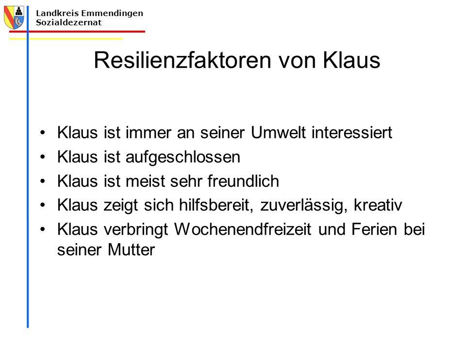 Resilienzfaktoren von Klaus