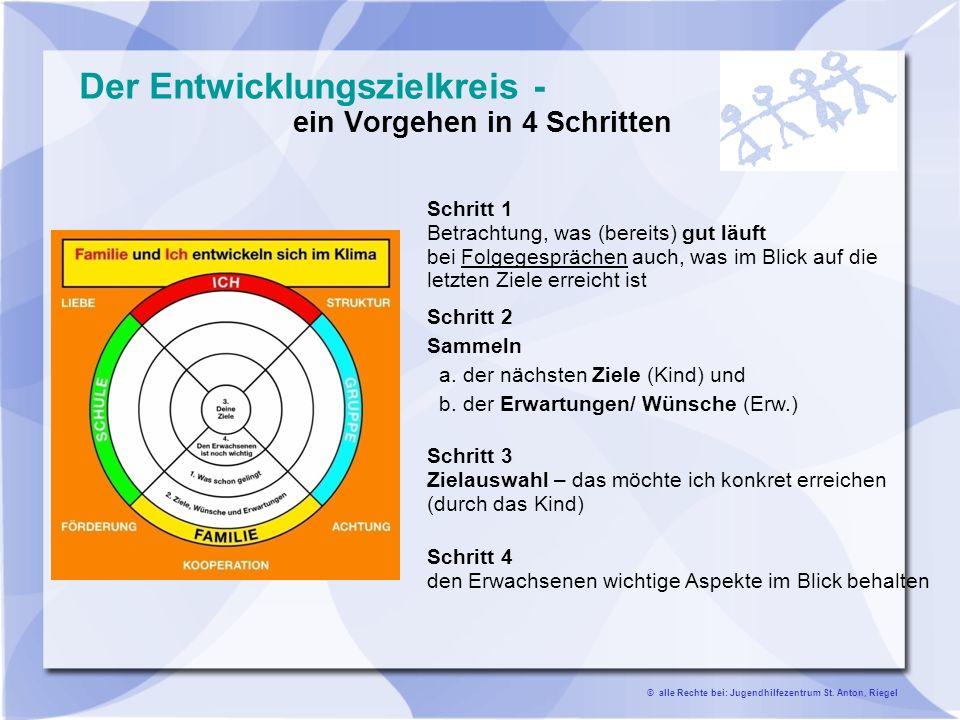 Der Entwicklungszielkreis - ein Vorgehen in 4 Schritten
