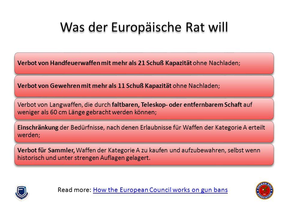 Was der Europäische Rat will