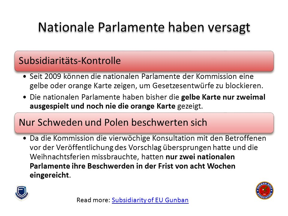 Nationale Parlamente haben versagt