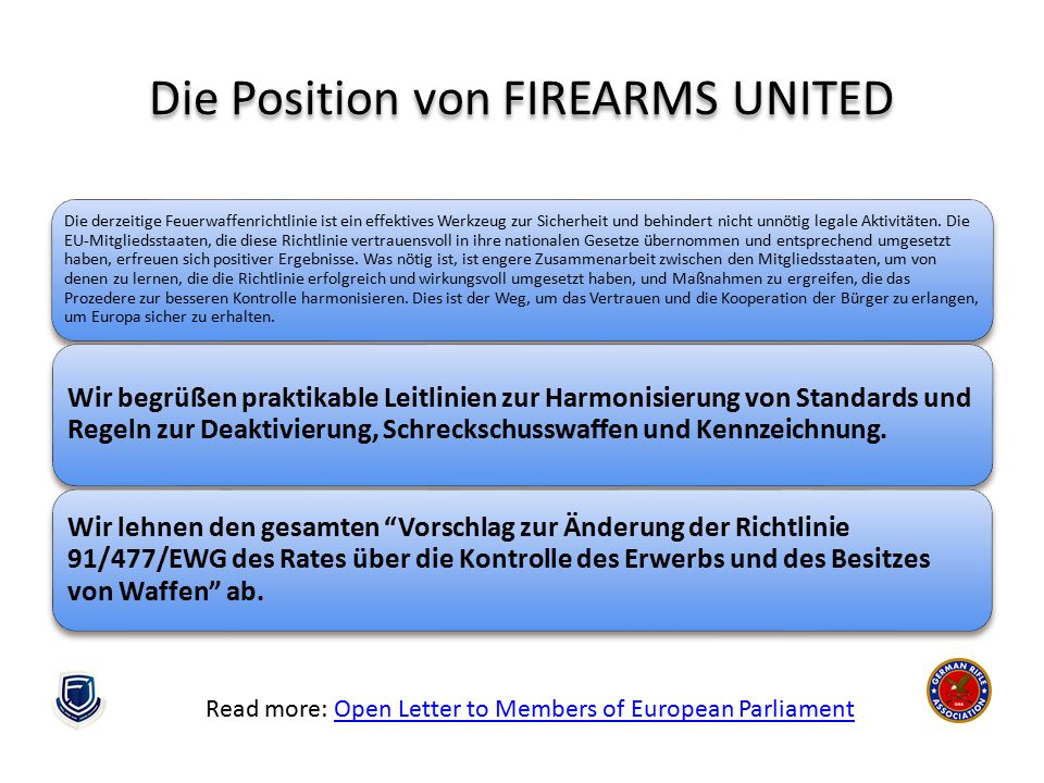 Die Position von FIREARMS UNITED