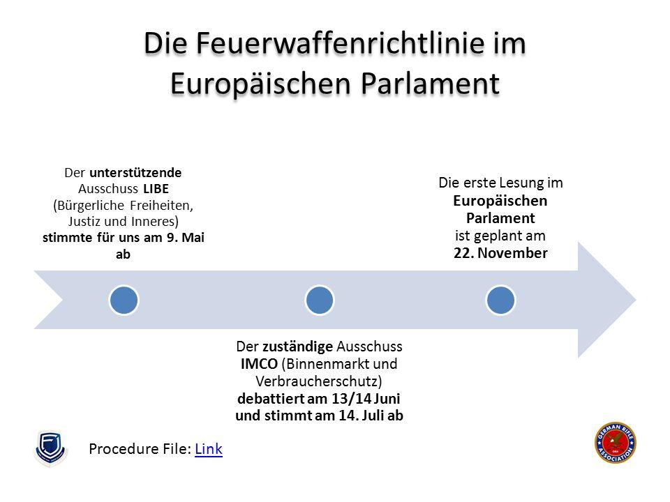 Die Feuerwaffenrichtlinie im Europäischen Parlament