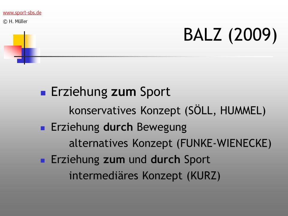 BALZ (2009) Erziehung zum Sport konservatives Konzept (SÖLL, HUMMEL)