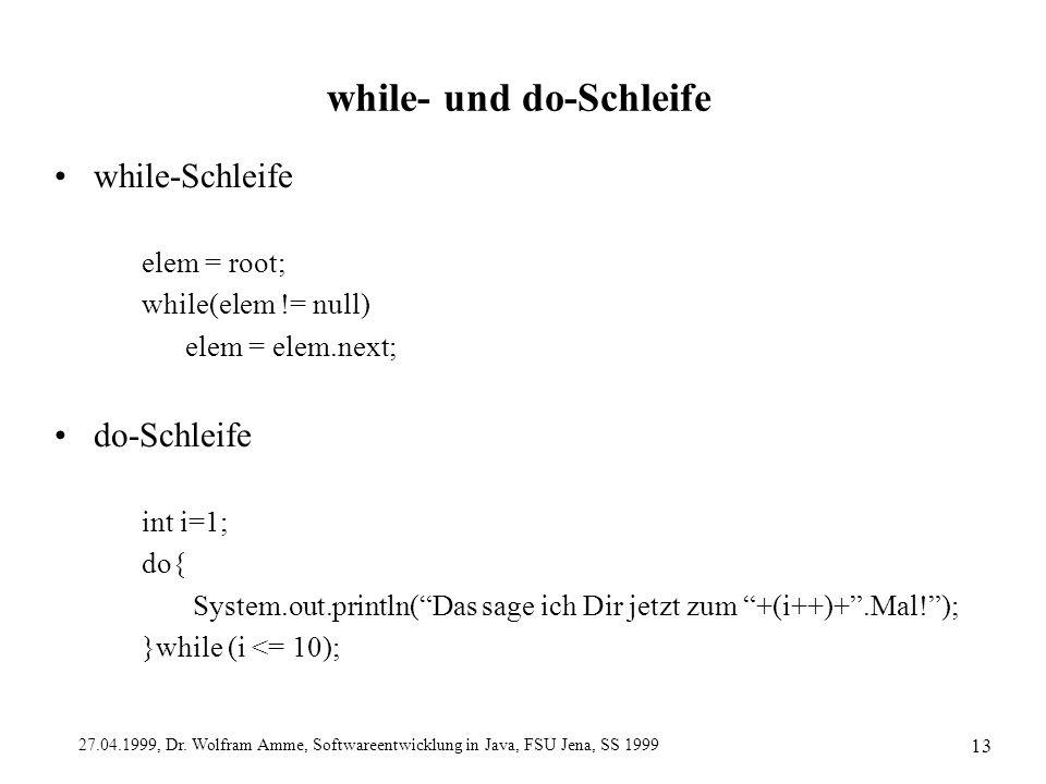 while- und do-Schleife