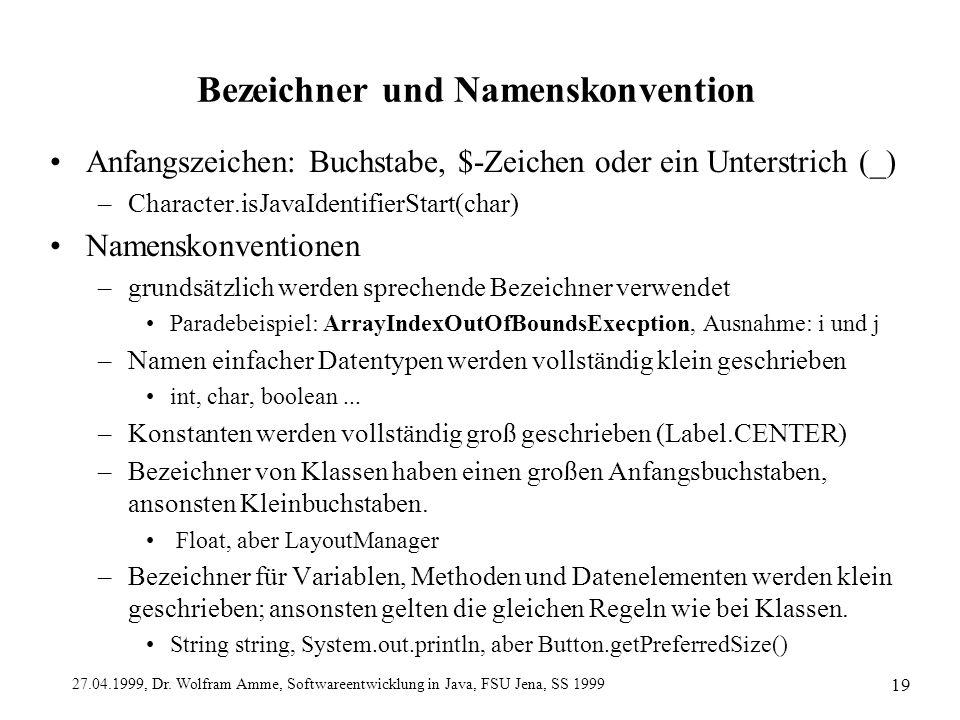 Bezeichner und Namenskonvention