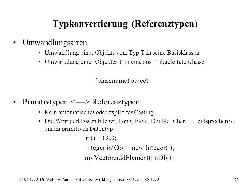 Typkonvertierung (Referenztypen)
