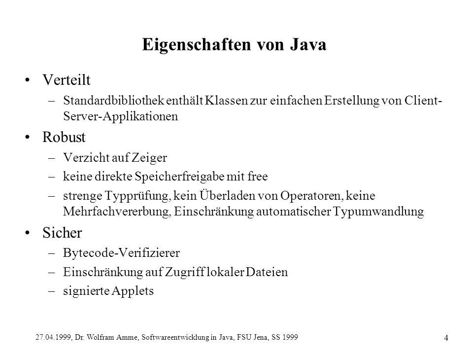 Eigenschaften von Java