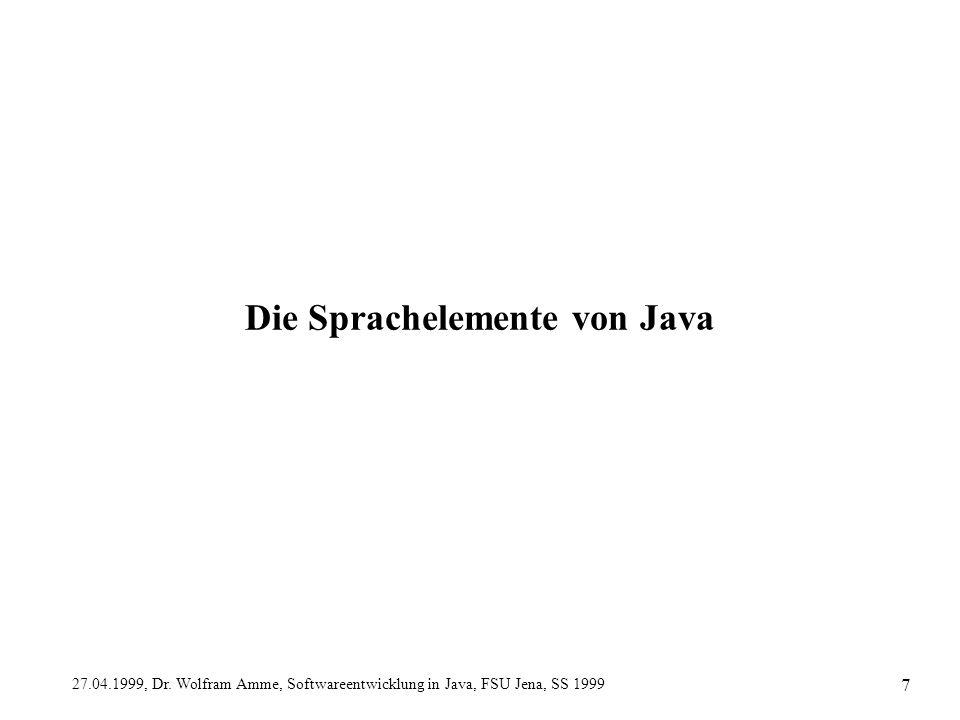 Die Sprachelemente von Java