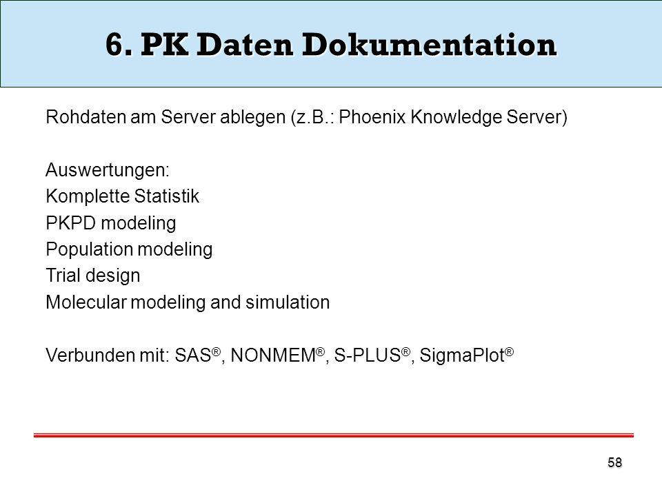 6. PK Daten Dokumentation