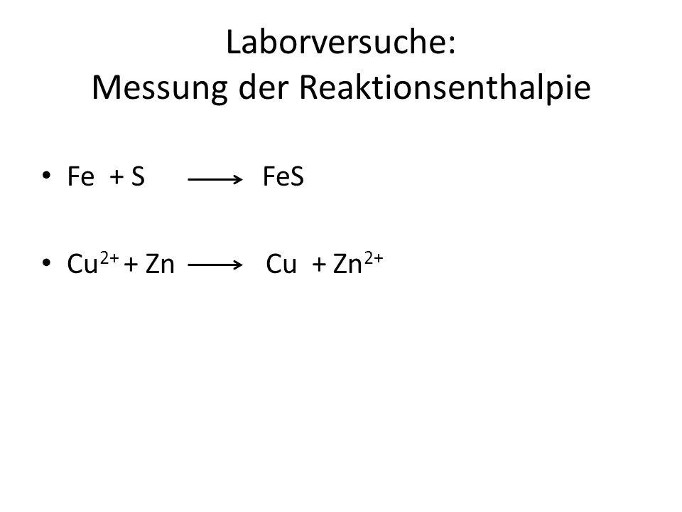 Laborversuche: Messung der Reaktionsenthalpie