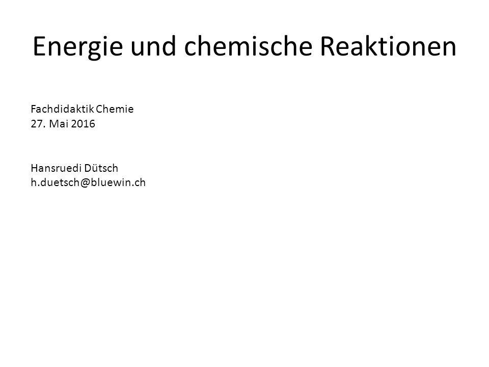 Energie und chemische Reaktionen