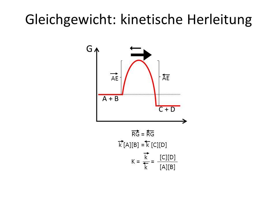 Gleichgewicht: kinetische Herleitung