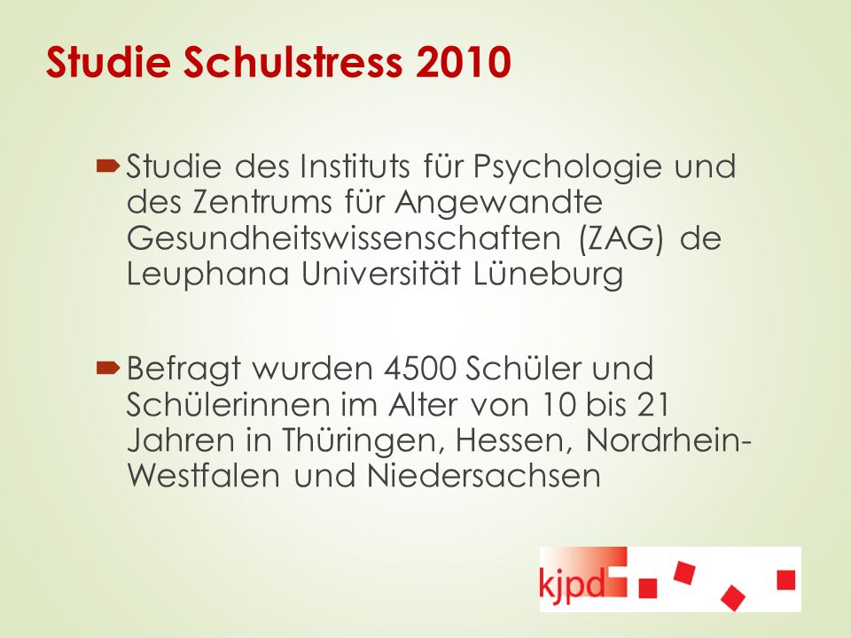 Studie Schulstress 2010