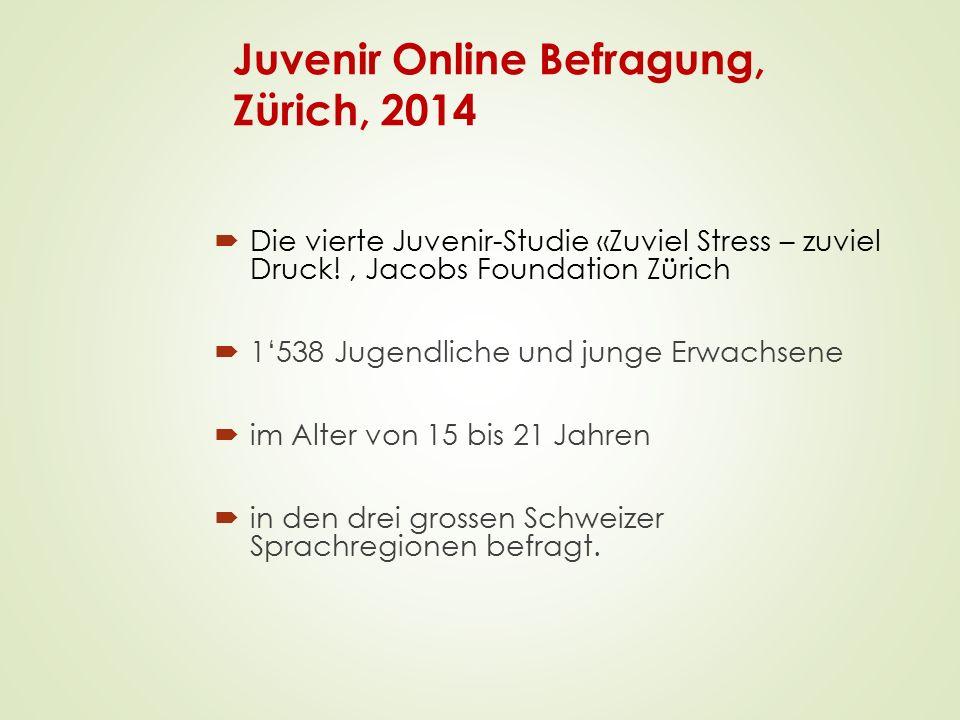 Juvenir Online Befragung, Zürich, 2014