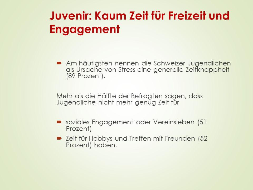 Juvenir: Kaum Zeit für Freizeit und Engagement