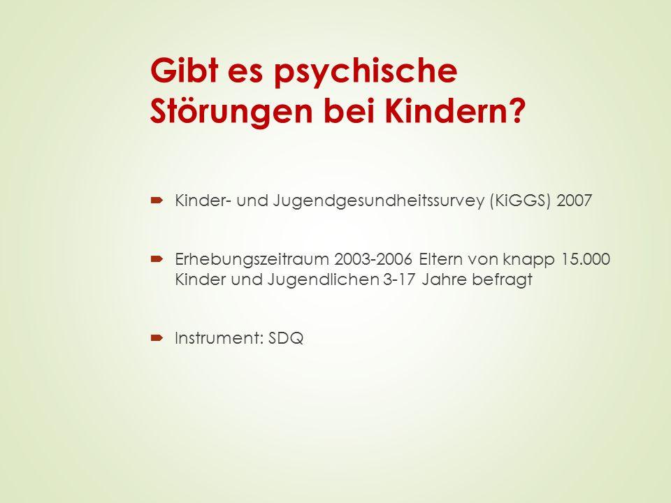 Gibt es psychische Störungen bei Kindern