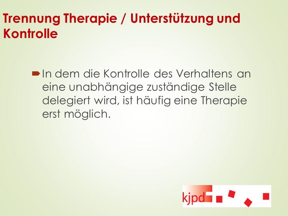 Trennung Therapie / Unterstützung und Kontrolle