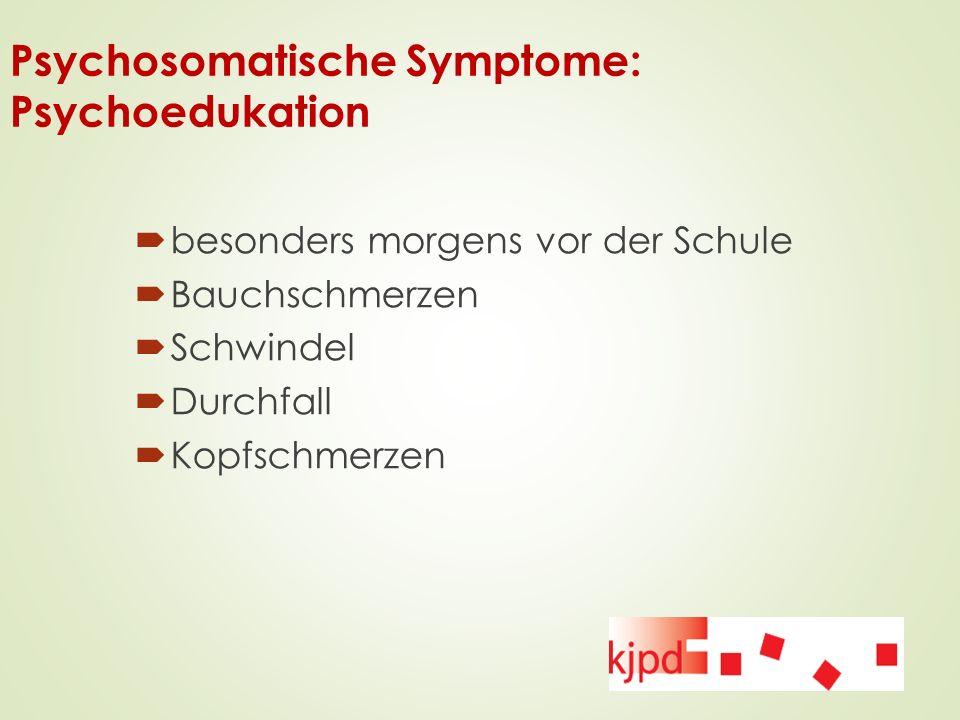 Psychosomatische Symptome: Psychoedukation