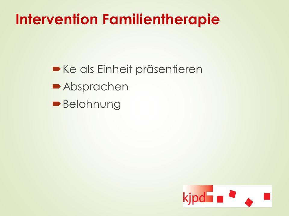 Intervention Familientherapie