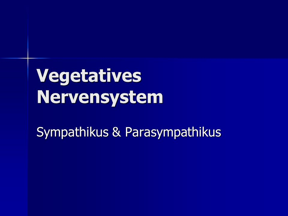 Vegetatives Nervensystem - ppt video online herunterladen