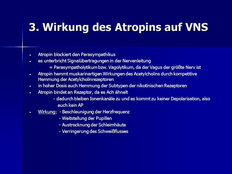 3. Wirkung des Atropins auf VNS
